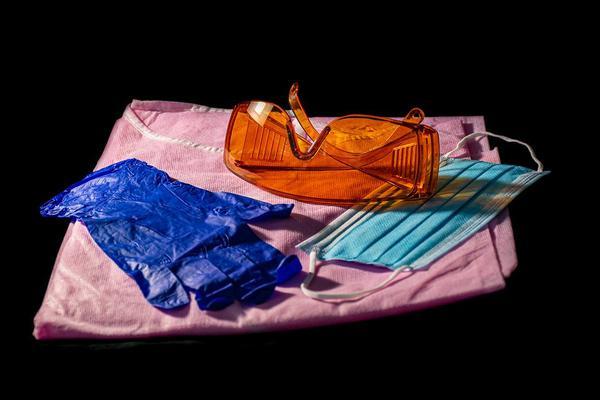 rękawice nitrylowe niebieskie